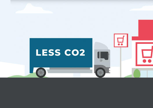 Less co2 truck